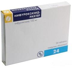 Фото - Кишкові антисептичні таблетки Нифуроксазид Ріхтер
