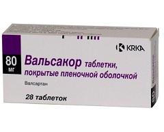 Фото - Таблетки Вальсакор в дозуванні 80 мг